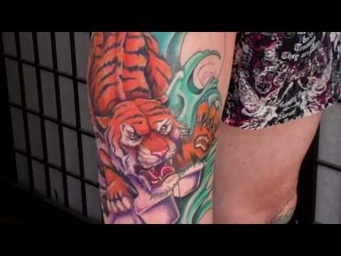 Japanese Tiger Tattoo by Jason Dunn Tattoo .com