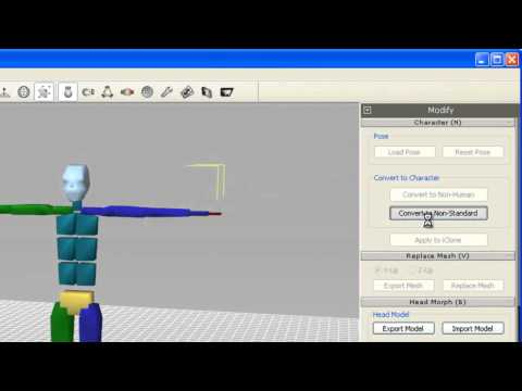 3DXchange5 Tutorial – Importing 3DS Max Character Studio Characters to iClone