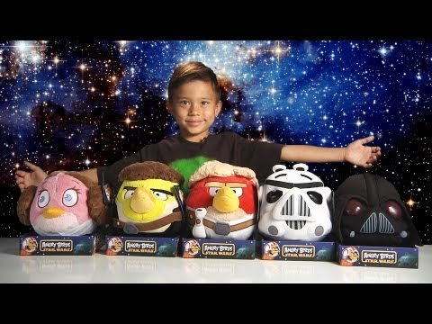 Angry Birds STAR WARS PLUSH TOYS Set! - Epic Plush Battle!