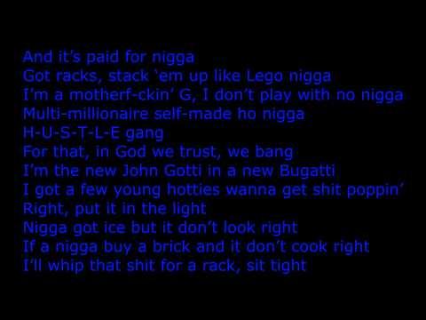 Ace Hood - Bugatti (Remix) Feat. Wiz Khalifa, T.I., Meek Mill..ect [lyrics on screen]
