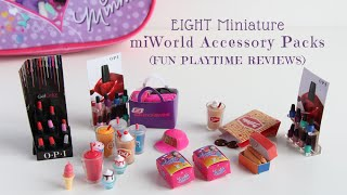 EIGHT Miniature miWorld Accessory Packs (Fun Playtime Reviews)