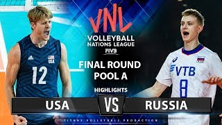 USA vs Russia | Highlights | Final Round Pool A | Men's VNL 2019