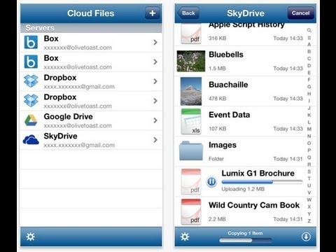 Gestionar Documentos de Dropbox, Box, SkyDrive o Google Drive con Cloud Files