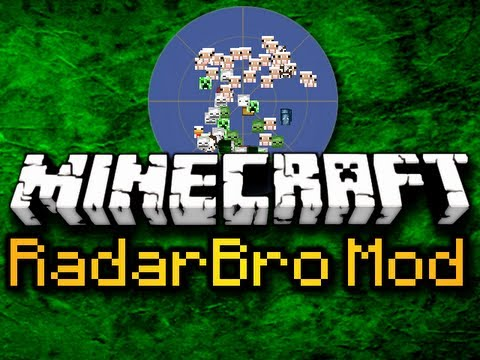 Minecraft RadarBro Mod - FULLY CUSTOMIZABLE RADAR! (HD)