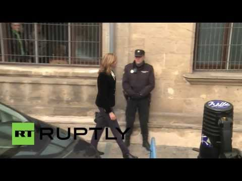Spain: Princess Cristina de Bourbon arrives in court