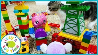 SQUEEZAMALS AND LEGO DUPLO! Fun Toy Trains and Plushies for Kids!