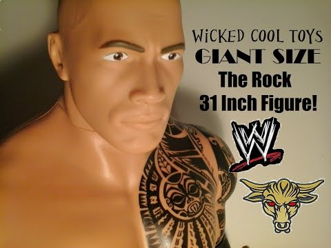 Fu-Reviews: Wicked Cool Toys WWE The Rock Giant Size 31 Inch Tall Figure