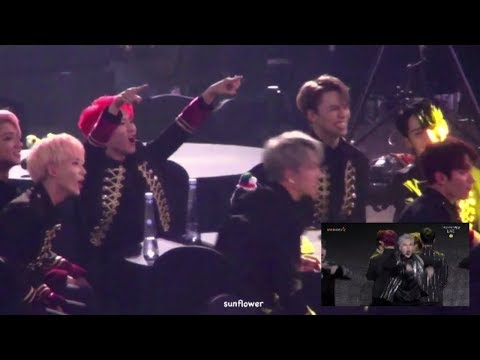 SEVENTEEN (세븐틴) reaction to MONSTA X ‪171115 AAA
