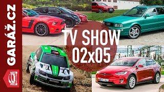 GARÁŽ.cz 02x05 - Tesla Model X 100D, Rally RC modelů a Audi RS2 vs. Audi RS4 Avant