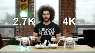 DJI Phantom 3 Professional VS Standard