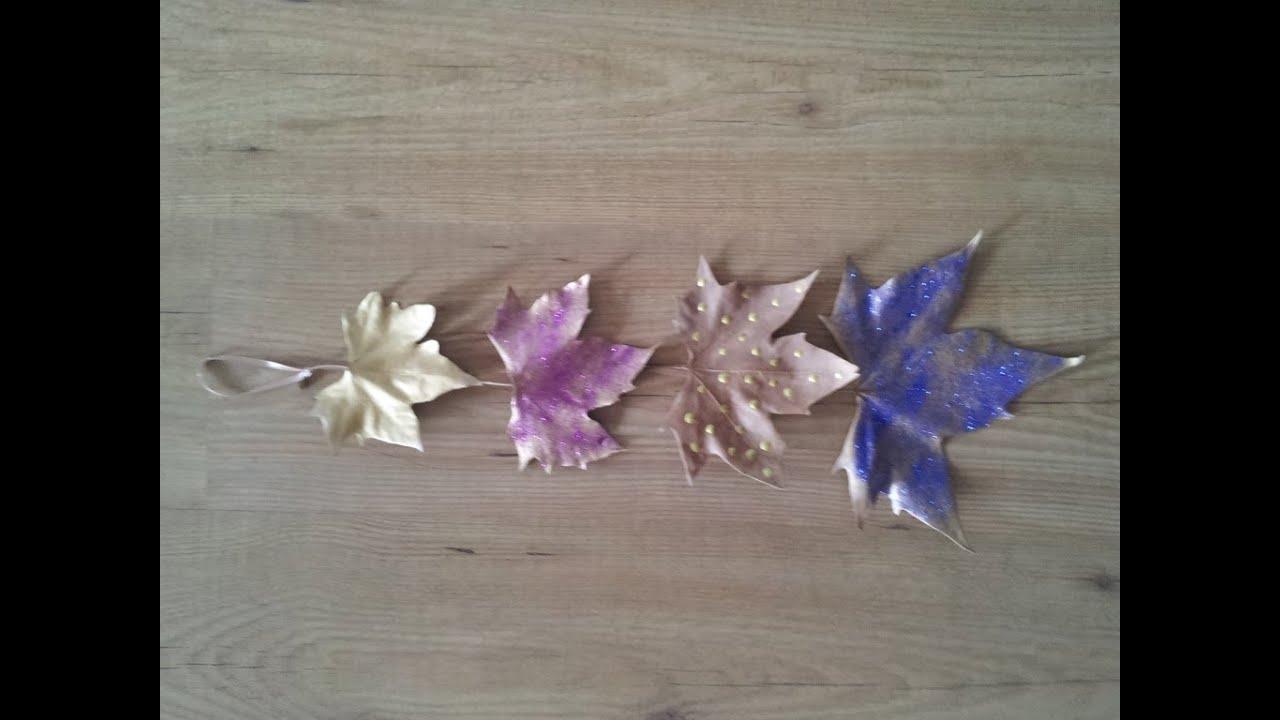 Decorar nuestro hogar con hojas secas diy youtube - Decorar hojas de otono ...