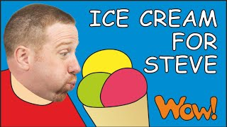 Ice Cream, Chocolate and Cake for Steve | English for Children | Steve and Maggie