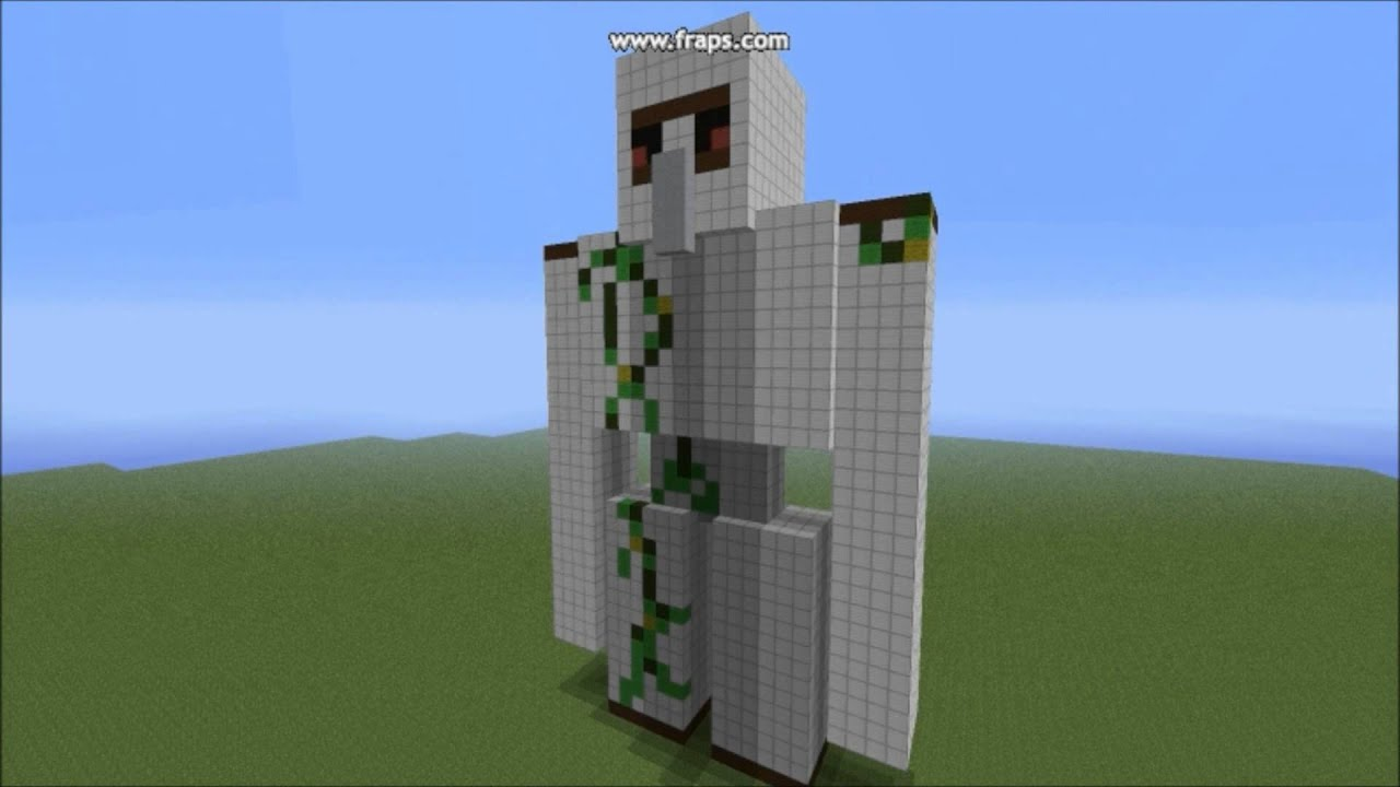 Minecraft Iron Golem Statue Theworldofbuilding 1 Youtube