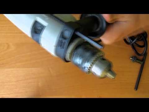 ударная дрель интерскол снять патрон