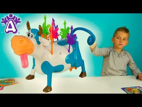 Леди Муму Бьем комаров на корове развлечение для детей. Видео для детей Друзяки. Lady Meuh Meuh game