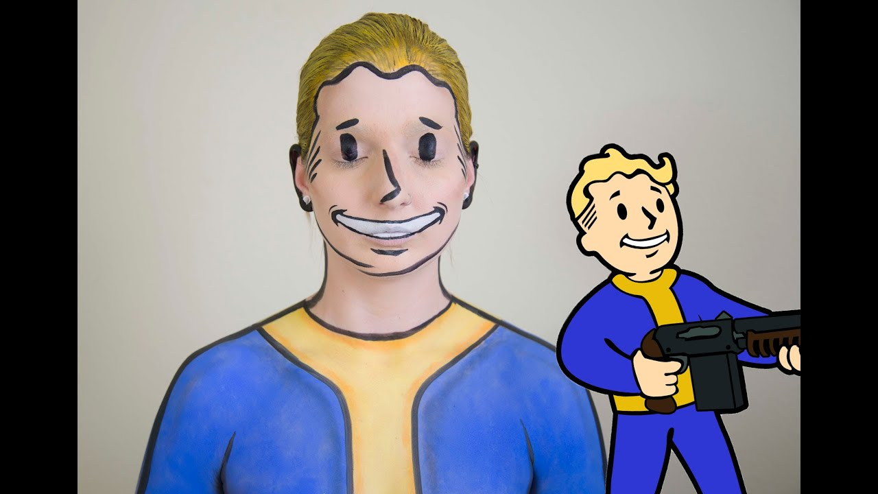 Fallout vault boy face paint youtube for Painting games com