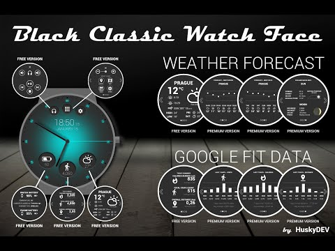 Black Classic Watch Face APK Cover
