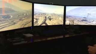 GTA 5 (PC) 2D Surround, G-Sync, Max graphics/settings. 3-Way SLI Titan X SC, 5760x1080