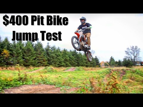 SSR Pit Bike Jump Test... Will It Break?
