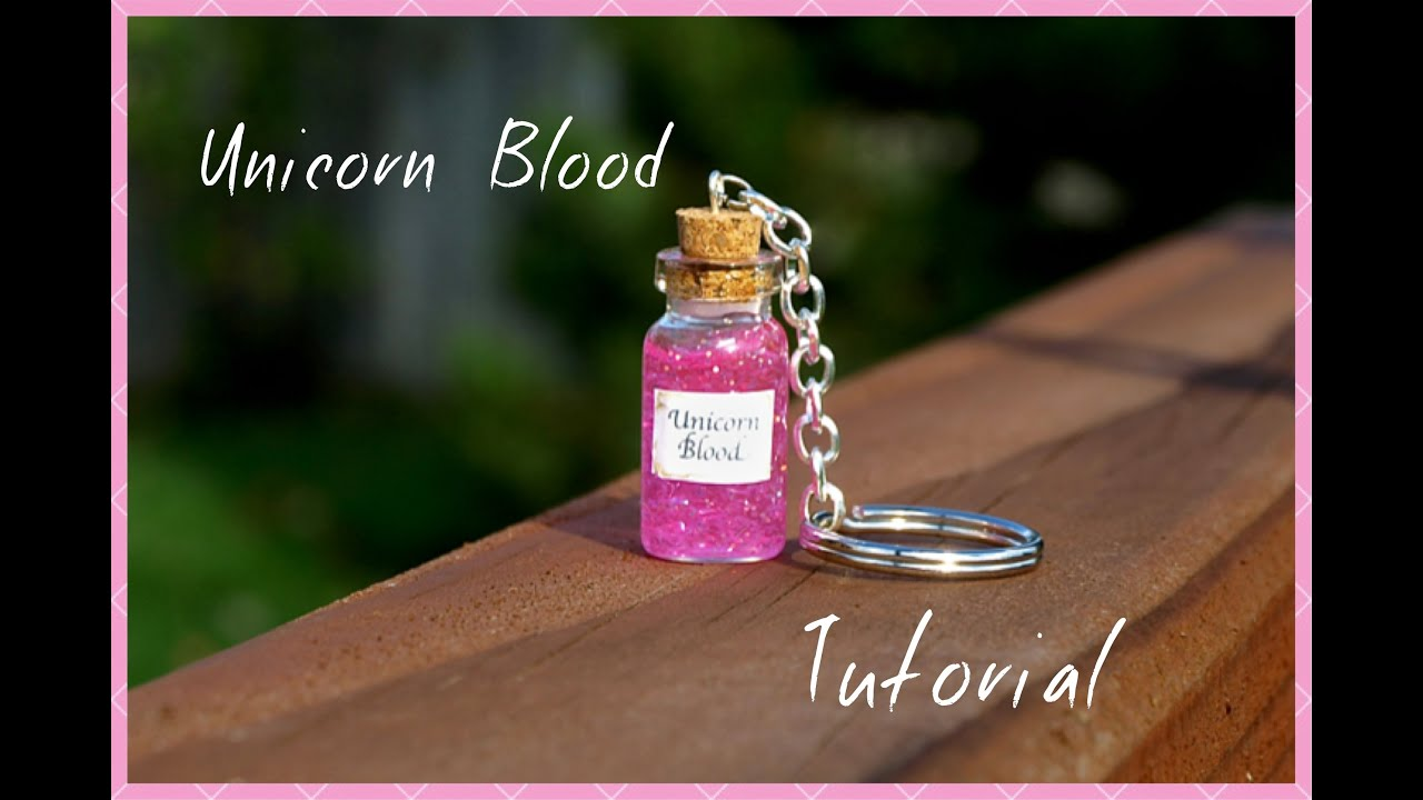 Easy unicorn blood keychain tutorial mini glass bottle for Things to make out of glass