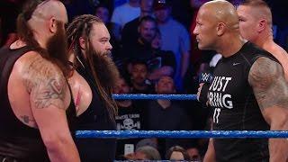 Braun Strowman & Bray Wyatt Vs The Rock & John Cena WWE Wrestlemania Full Segment