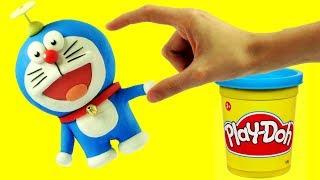 Doraemonドラえもん - Superhero Play Doh Cartoons & Stop Motion Movies for babies