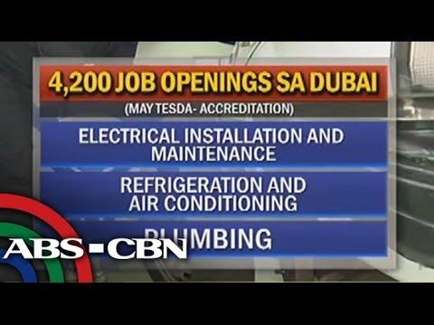 Dubai jobs await TESDA-certified workers