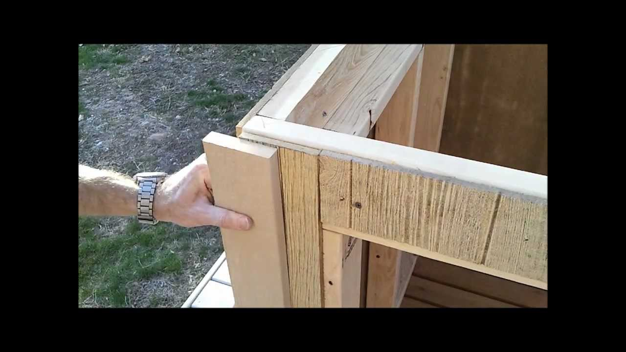 5-Shed Trim Install - How to Build a Generator Enclosure ...