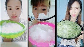 crushed ice eating | ice eating asmr | awesome crunches