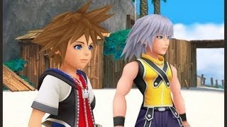 Kingdom Hearts 3D Dream Drop Distance - Traverse Town and Spirit tickling gameplay