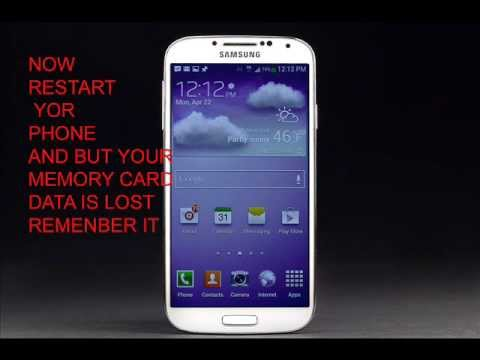 SAMSUNG GALAXY S4  HARD RESET ......and unlock locked screen
