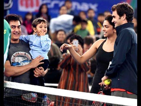 Aamir Khan, Deepika and Askhay Kumar playing at IPTL