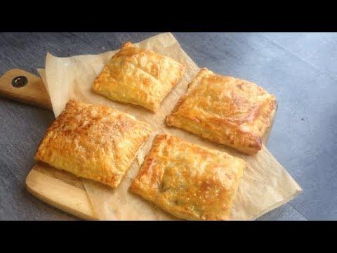 Рецепт Вкусные слоеные пирожки с мясом