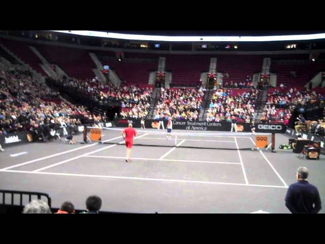 Agassi/McEnroe match point in Portland