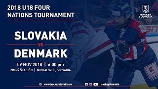 U18 Four Nations Tournament 2018 | Slovakia vs Denmark