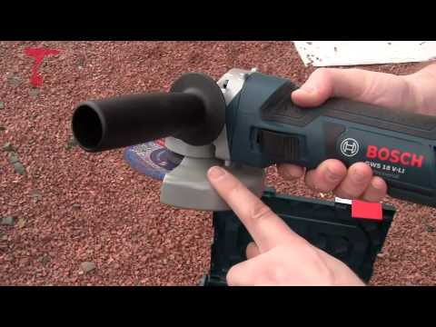 Bosch Gws18v-li Angle Grinder - First Look video