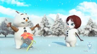 ABC Alphabet Song | Ulric the Snowman Meets a Snowgirl | English Education Cartoon