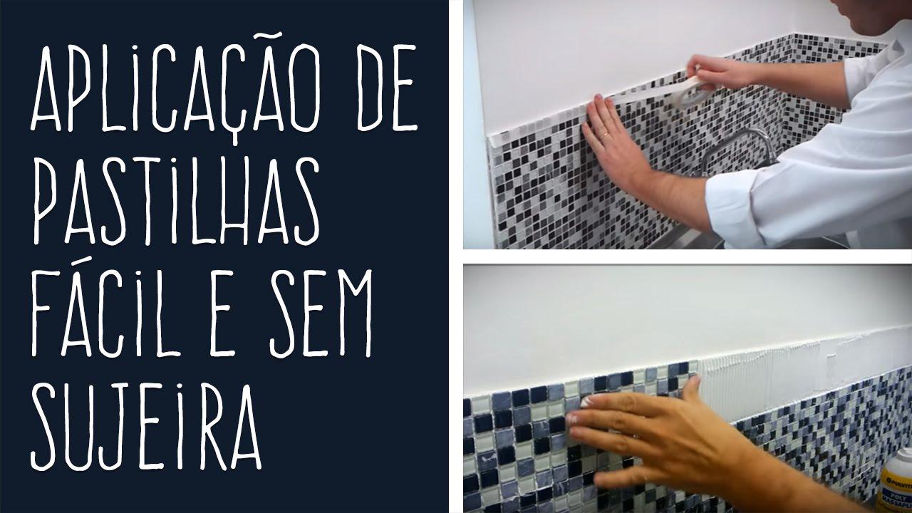 Aplica o de pastilhas f cil e sem sujeira youtube - Como aplicar microcemento sobre azulejos ...