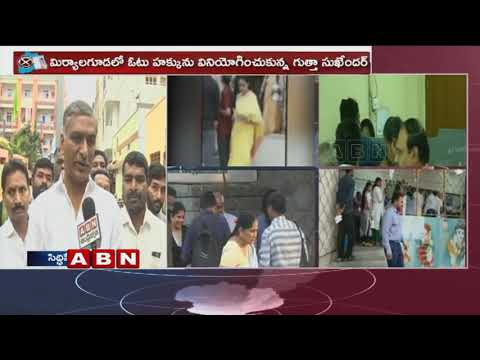Telangana Assembly Elections 2018 | | Harish Rao face to face after casting his vote in siddipet