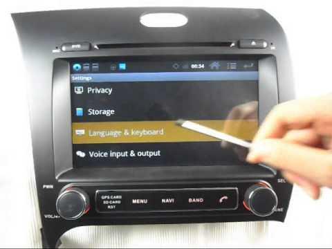 2013 Kia Cerato Android DVD Player GPS. Kia Cerato Android DVD Player Wifi 3G