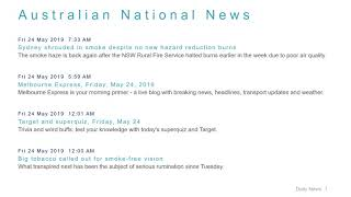 National News Headlines for 24 May 2019 - 8 AM Edition
