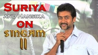 Singam 2 - Tamil Movie Star Surya and Hansika Talks about upcoming Movie Singam II. [RED PIX]