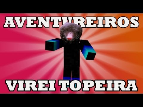 Minecraft: Jarvas e os Aventureiros Multiplayer #3 Virei Topeira