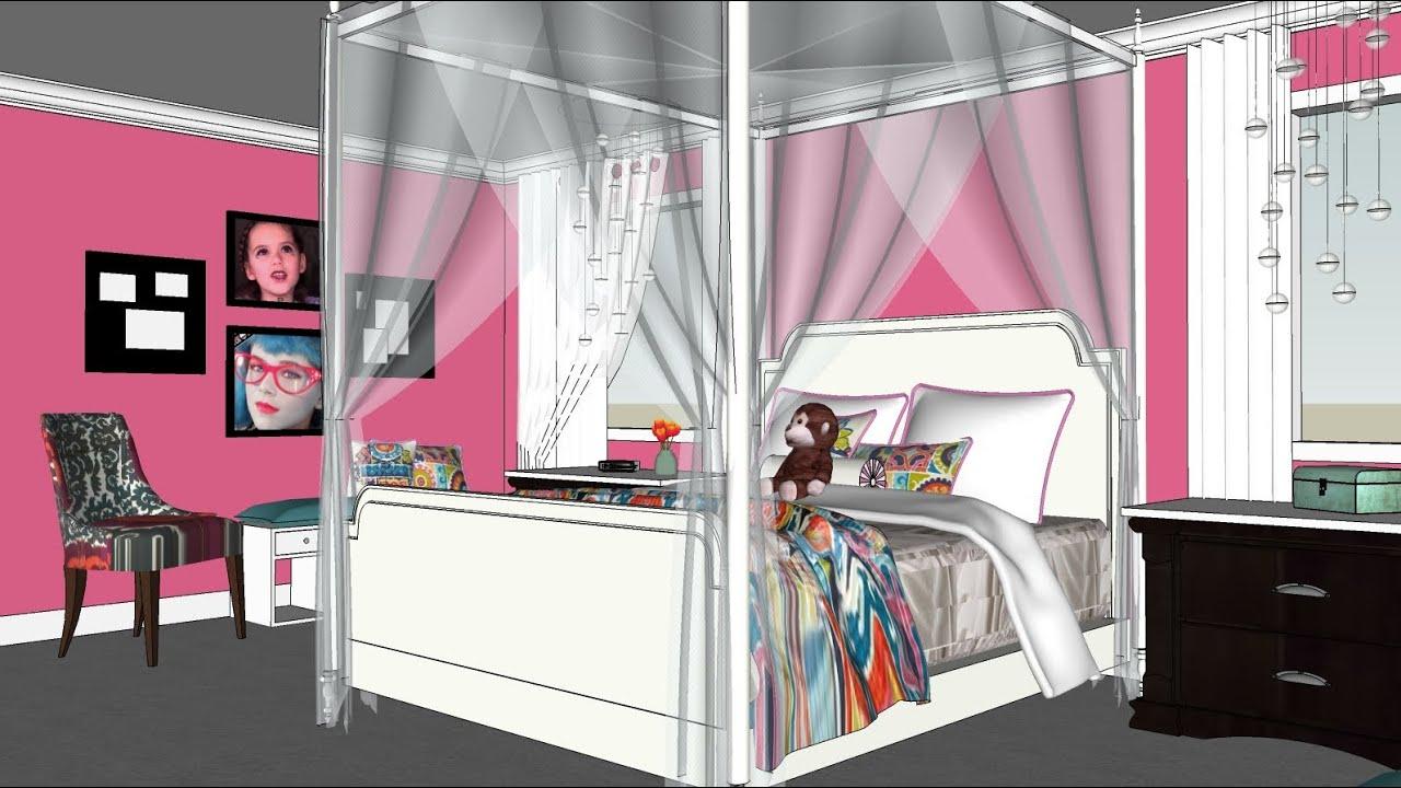 Teenage bedroom ideas black and white