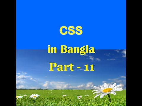 CSS in Bengali Tutorial  - 11 -  CSS Background and Images Style Property