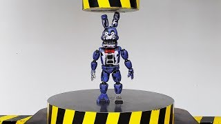 EXPERIMENT HYDRAULIC PRESS 100 TON vs Nightmare Bonnie Figure FNAF (Five Nights at Freddy)
