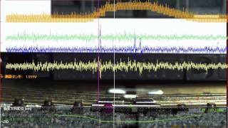 ハイスピードカメラ+データロガー 「歪み測定」