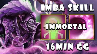 [Dazzle] Super IMBA Skill Poison Touch & Shadow Wave 16Min GG with Zero Death FullGame Dota 2 7.21c