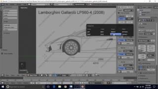 Steven brooks viyoutube model a lamborghini gallardo lp560 4 in blender tutorial part 1 blueprint setup malvernweather Images