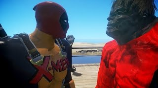 DEADPOOL VS RED HULK - DEADPOOL X-MEN CLASSIC